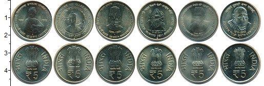 Изображение Наборы монет Индия Индия 2007-2014 0 Медно-никель UNC-