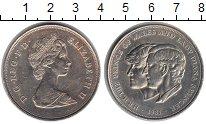 Изображение Монеты Великобритания 25 пенсов 1981 Медно-никель XF Свадьба принца Чарль