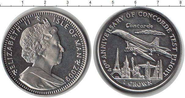 Картинка Монеты Остров Мэн 1 крона Медно-никель 2009