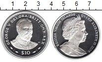 Изображение Монеты Виргинские острова 10 долларов 2006 Серебро Proof- Елизавета II. Георг