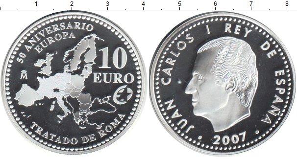 Картинка Монеты Испания 10 евро Серебро 2007