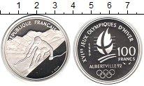 Изображение Монеты Франция 100 франков 1989 Серебро Proof Зимняя олимпиада 199