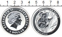 Изображение Монеты Австралия 1 доллар 2013 Серебро Proof- Елизавета II. Коала