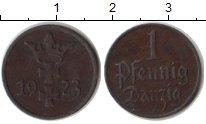 Изображение Монеты Данциг 1 пфенниг 1923 Медь XF .