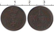 Изображение Монеты Данциг 1 пфенниг 1937 Медь XF .