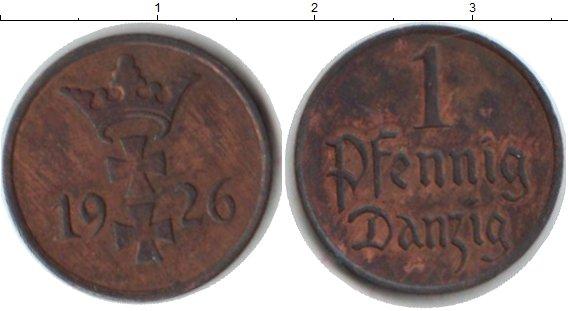 Картинка Монеты Данциг 1 пфенниг Медь 1926