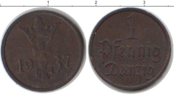 Картинка Монеты Данциг 1 пфенниг Медь 1937