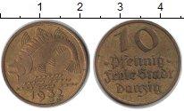 Изображение Монеты Данциг 10 пфеннигов 1932 Медь XF Треска