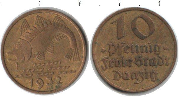 Картинка Монеты Данциг 10 пфеннигов Медь 1932