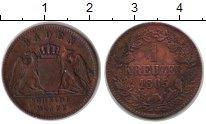 Изображение Монеты Баден 1 крейцер 1865 Медь VF .