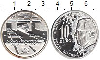 Изображение Монеты Бельгия 10 евро 2002 Серебро Proof- ЖД