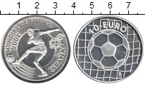Изображение Монеты Испания 10 евро 2002 Серебро Proof- ФИФА 2002