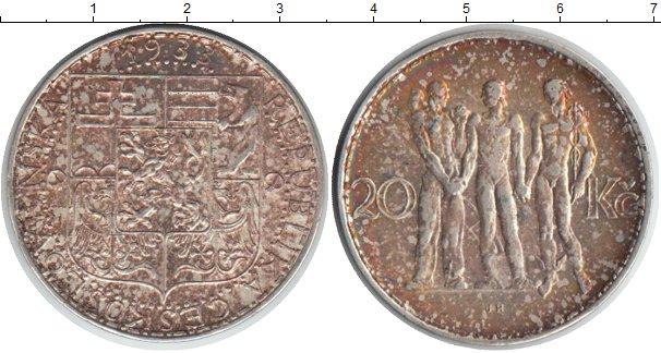 Картинка Монеты Чехословакия 20 крон Серебро 1933