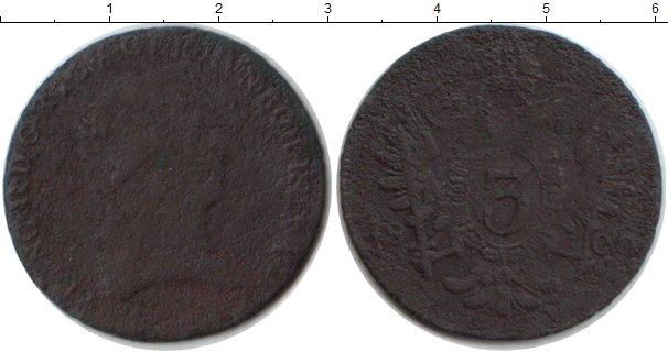 Картинка Монеты Австрия 3 крейцера Медь 1800