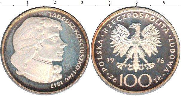 Картинка Монеты Польша 100 злотых Серебро 1976