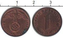 Изображение Монеты Третий Рейх 1 пфенниг 1937 Медь XF А