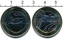 Изображение Мелочь Финляндия 5 евро 2015 Биметалл UNC-