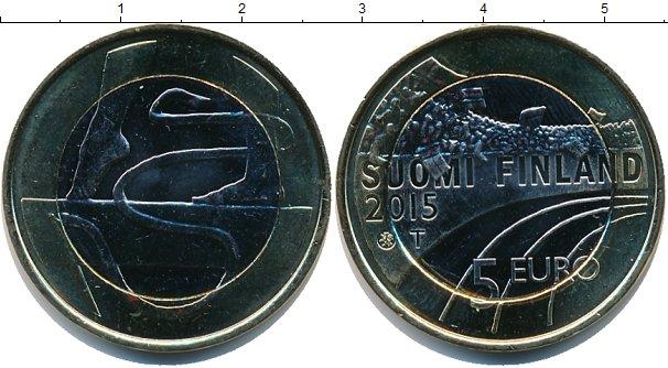 Картинка Мелочь Финляндия 5 евро Биметалл 2015