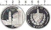 Изображение Монеты Куба 10 песо 2001 Серебро Proof-
