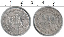 Изображение Монеты Гамбург 1/10 марки 1923 Алюминий XF Нотгельд