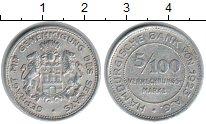 Изображение Монеты Гамбург 5/100 марки 1923 Алюминий XF Нотгельд