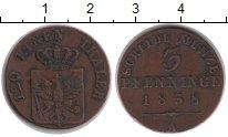 Изображение Монеты Пруссия 3 пфеннига 1838 Медь VF