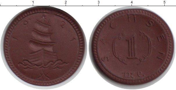 Картинка Монеты Саксония 1 марка Керамика 1921