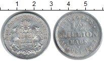 Изображение Монеты Гамбург 1/2 миллиона марок 1923 Алюминий XF