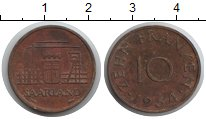 Изображение Монеты Саар 10 франков 1954  VF