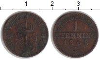 Изображение Монеты Пруссия 1 пфенниг 1868 Медь VF В
