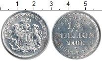 Изображение Монеты Гамбург 1/2 миллиона марок 1923 Алюминий XF Нотгельд