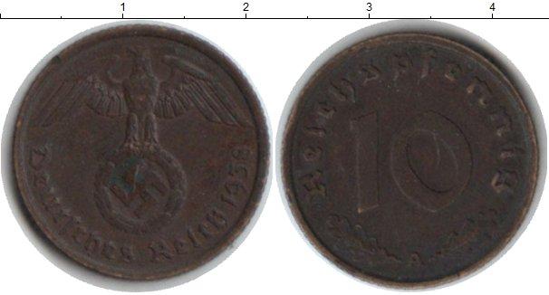 Картинка Монеты Третий Рейх 10 пфеннигов  1938