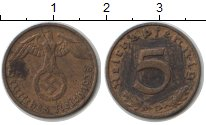 Изображение Монеты Германия Третий Рейх 5 пфеннигов 1938  VF