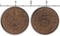 Изображение Монеты Третий Рейх 5 пфеннигов 1938  XF G
