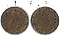 Изображение Монеты Третий Рейх 5 пфеннигов 1937  XF Е