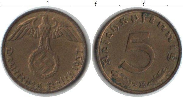 Картинка Монеты Третий Рейх 5 пфеннигов  1937