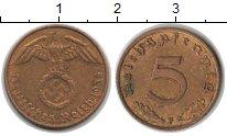 Изображение Монеты Третий Рейх 5 пфеннигов 1938  XF F