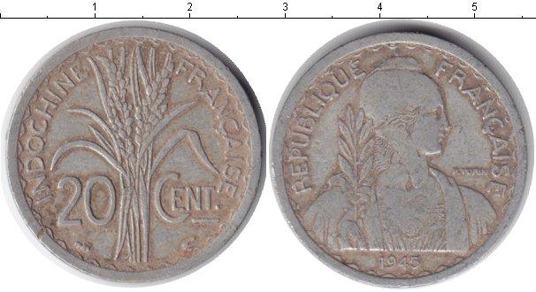 Картинка Монеты Индокитай 20 центов Алюминий 1945
