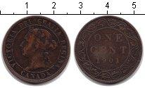 Изображение Монеты Канада 1 цент 1901 Медь VF Виктория
