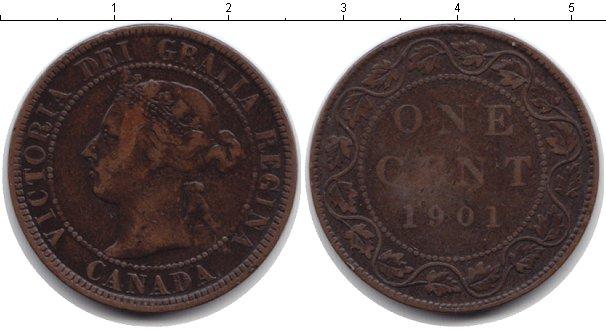 Картинка Монеты Канада 1 цент Медь 1901