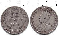 Изображение Монеты Ньюфаундленд 50 центов 1911 Серебро VF Георг V