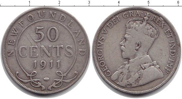 Картинка Монеты Ньюфаундленд 50 центов Серебро 1911