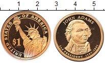 Изображение Мелочь США 1 доллар 2007  Proof 2-й президент США. Д