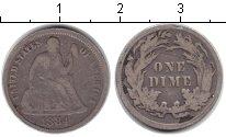Изображение Монеты США 1 дайм 1884 Серебро VF
