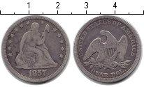 Изображение Монеты США 1/4 доллара 1857 Серебро VF