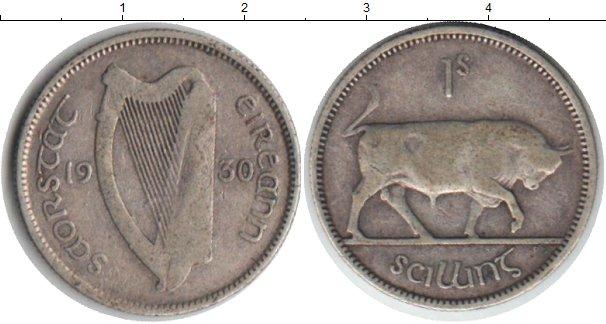 Картинка Монеты Ирландия 1 шиллинг Серебро 1930