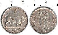 Изображение Монеты Ирландия 1 шиллинг 1940 Серебро VF Бык