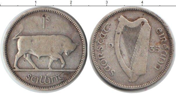 Картинка Монеты Ирландия 1 шиллинг Серебро 1935
