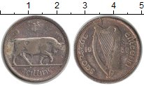 Изображение Монеты Ирландия 1 шиллинг 1930 Серебро VF Бык