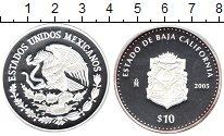 Изображение Мелочь Мексика 10 песо 2005 Серебро Proof- Нижняя Калифорния